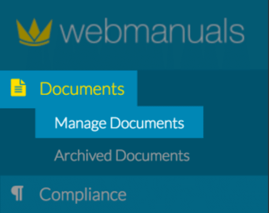 web manuals manage documents