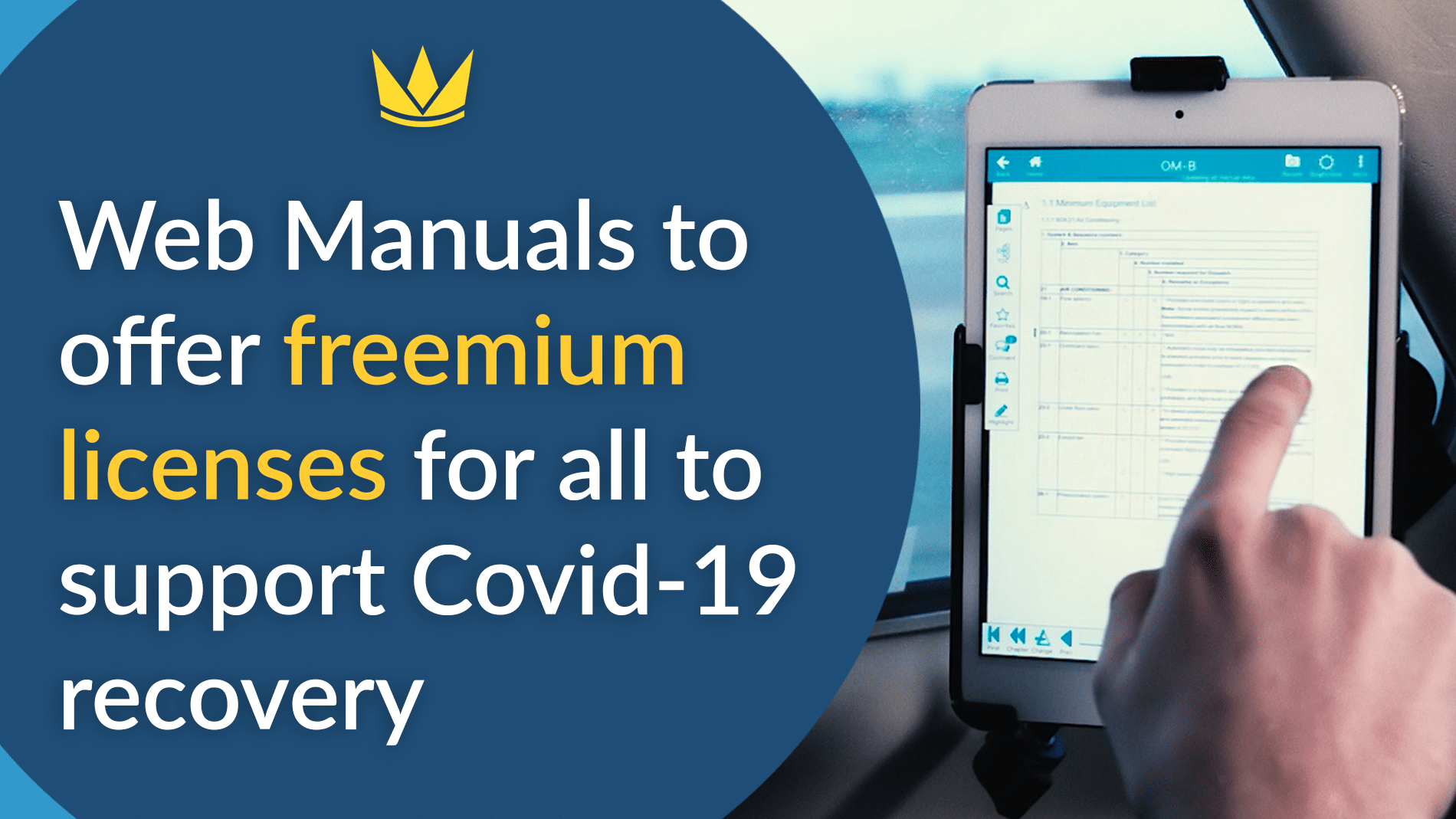 Web Manuals to offer freemium licenses for all to support Covid-19 recovery
