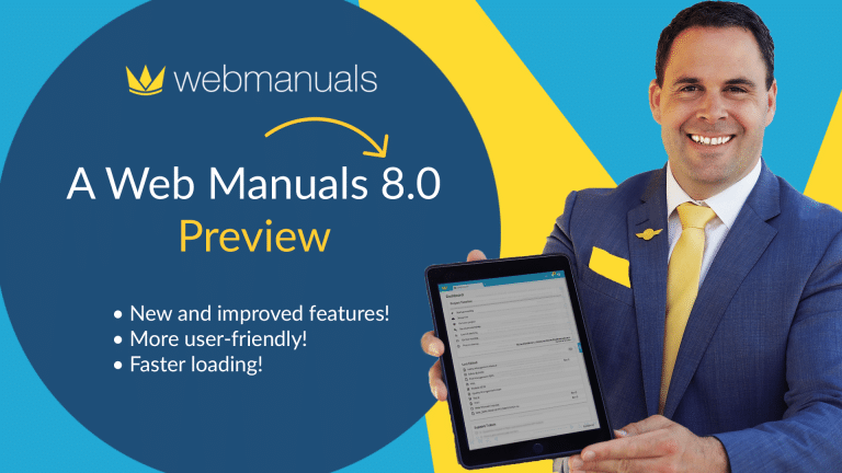 Web Manuals 8.0 martin holding ipad preview sneak peek