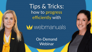 tips and tricks how to progress efficiently with web manuals