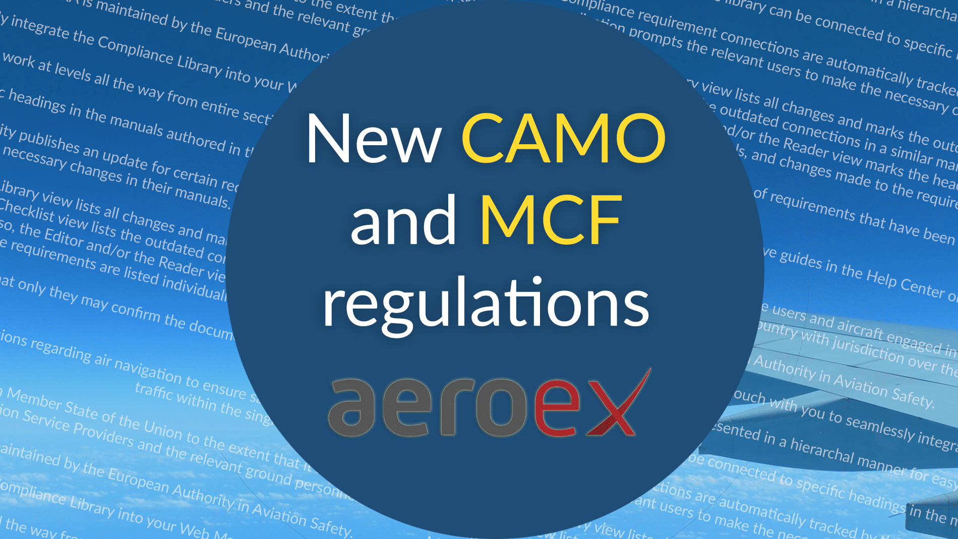 partner aeroex new regulations CAMO MCF