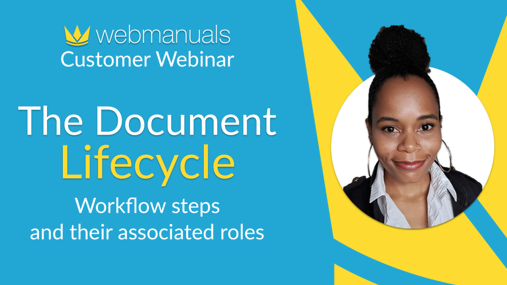 The Document Lifecycle Workflow steps and their associated roles with Ashley Johnson