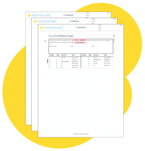 editor list of effective pages write manuals
