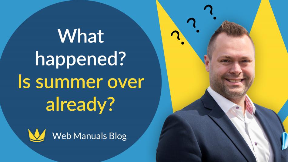 summer already over? web manuals blogupdate from Stefan Bundgaard