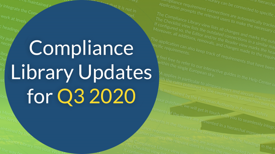 compliance libraries updates during Q3