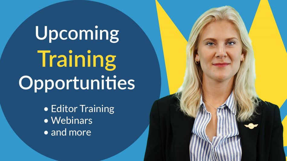 upcoming training opportunities for web manuals