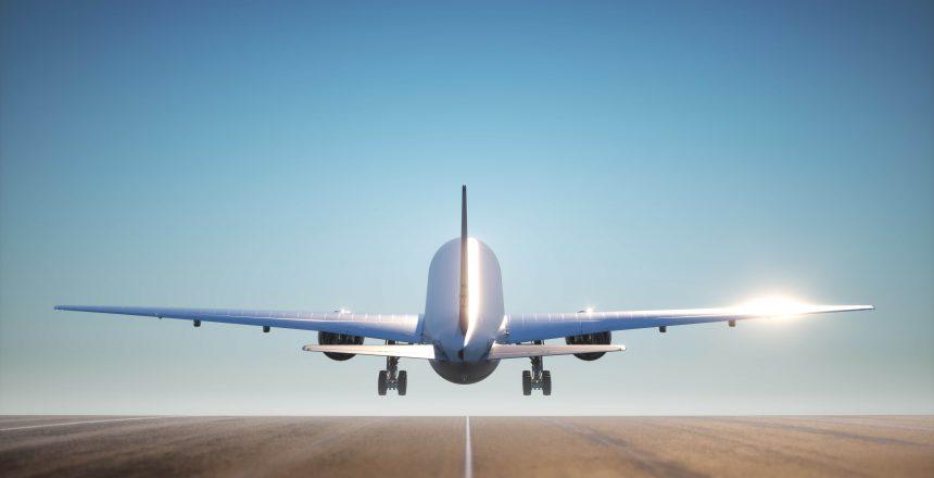 airplane passenger plane taking off