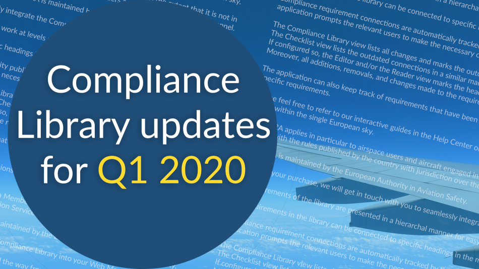 compliance libraries updates q1 2020